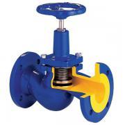Клапан запорный ( вентиль ) чугунный сильфонный фланцевый V234A