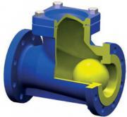 Клапан обратный подъемный фланцевый с шаровым запорным элементом типа RD12F